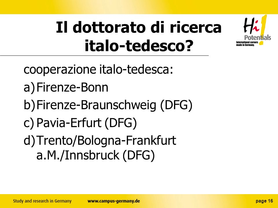 Il dottorato di ricerca italo-tedesco