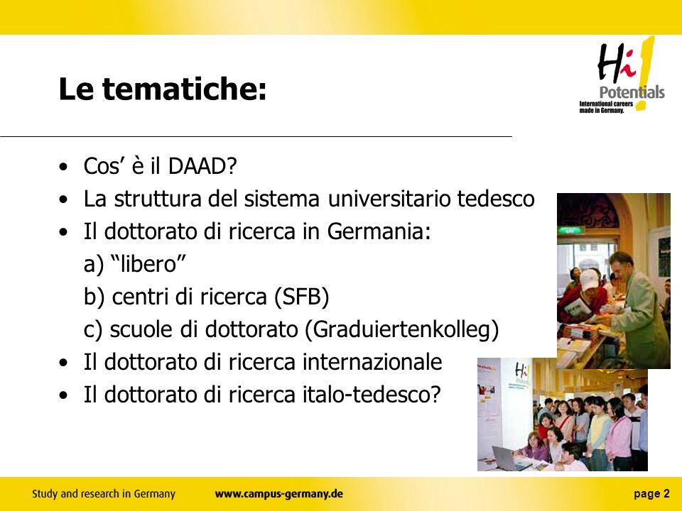 Le tematiche: Cos' è il DAAD