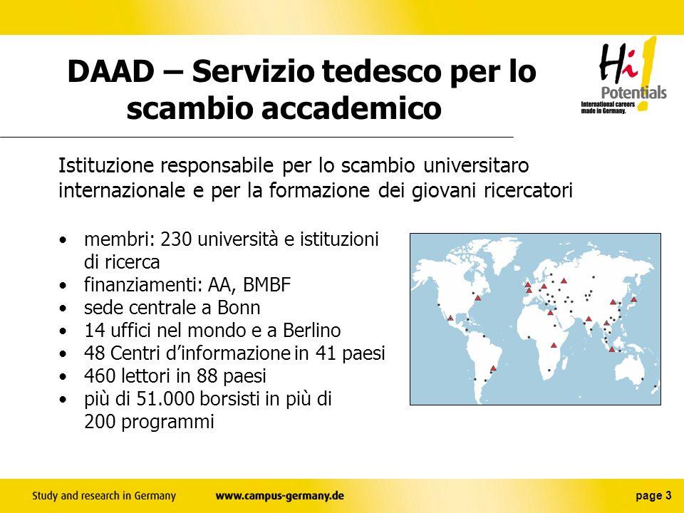 DAAD – Servizio tedesco per lo scambio accademico