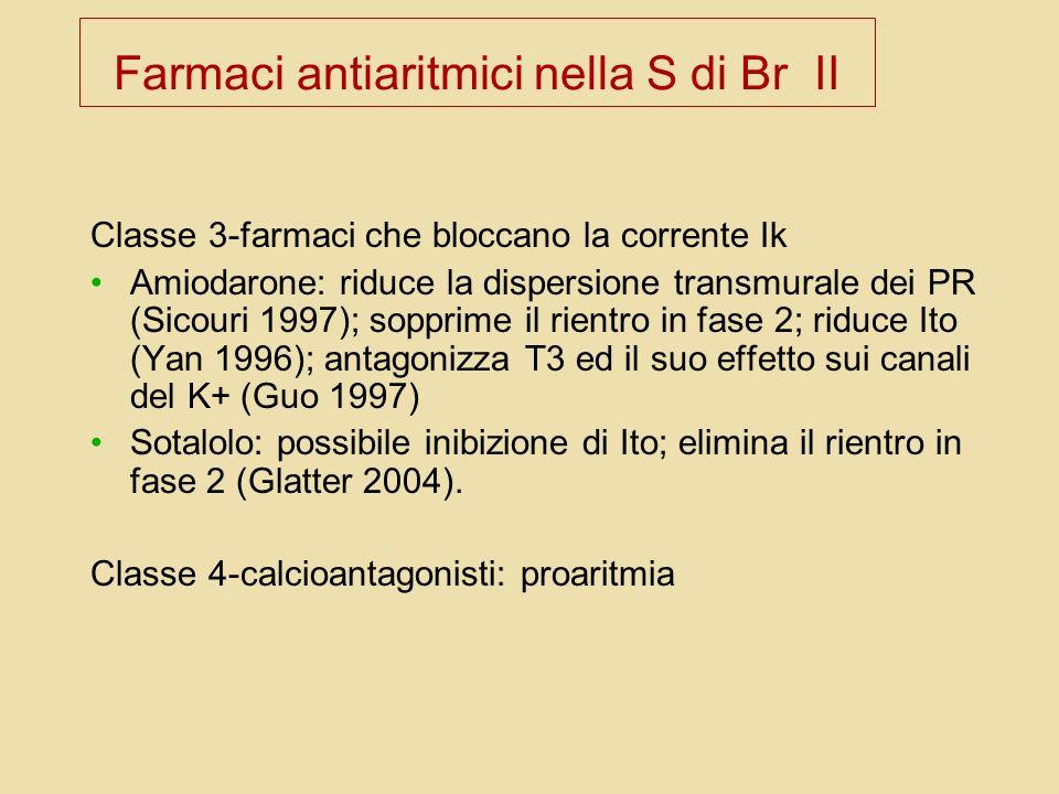 Farmaci antiaritmici nella S di Br II