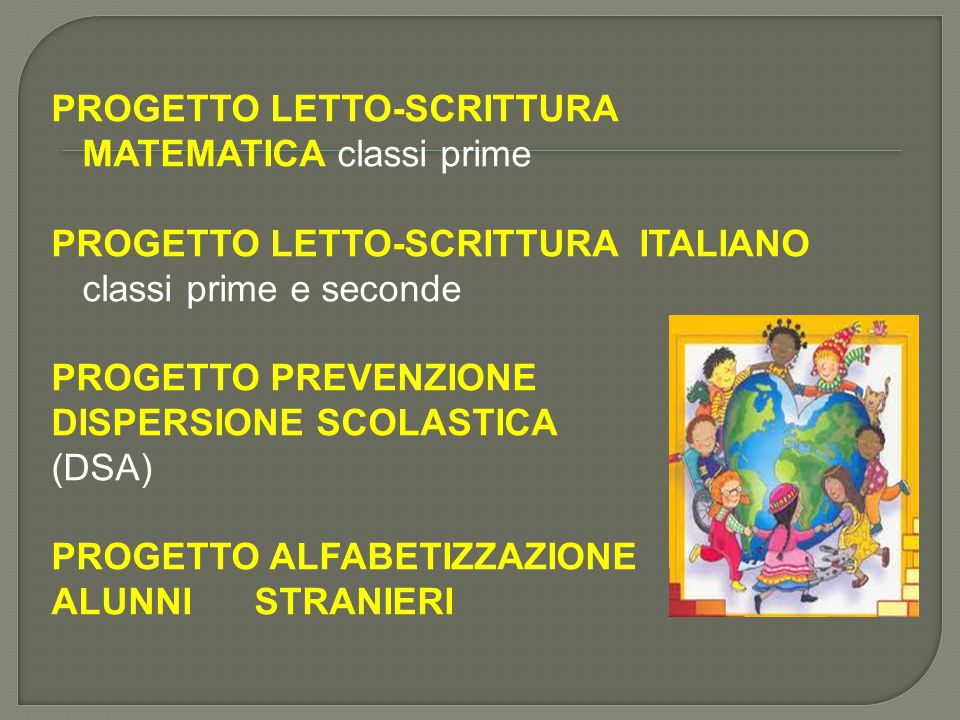PROGETTO LETTO-SCRITTURA MATEMATICA classi prime