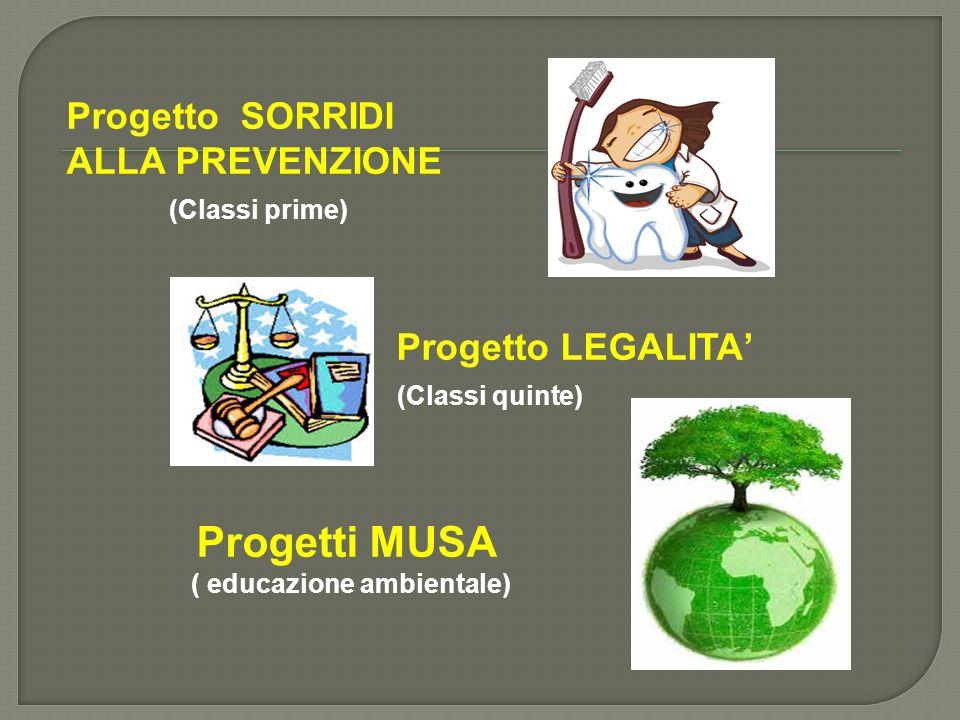 Progetti MUSA Progetto SORRIDI ALLA PREVENZIONE (Classi prime)