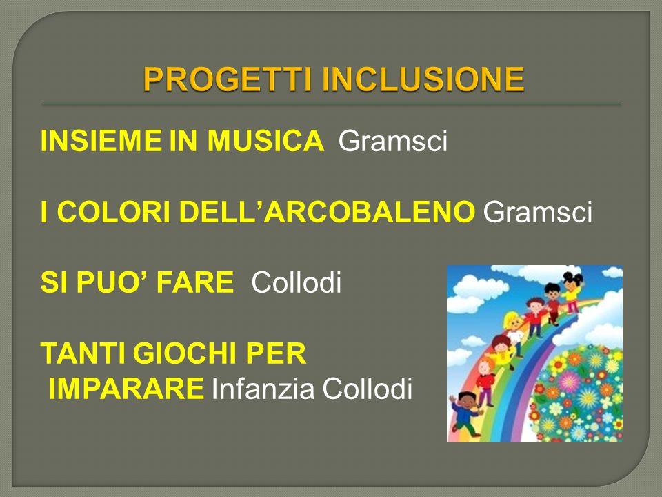 PROGETTI INCLUSIONE INSIEME IN MUSICA Gramsci