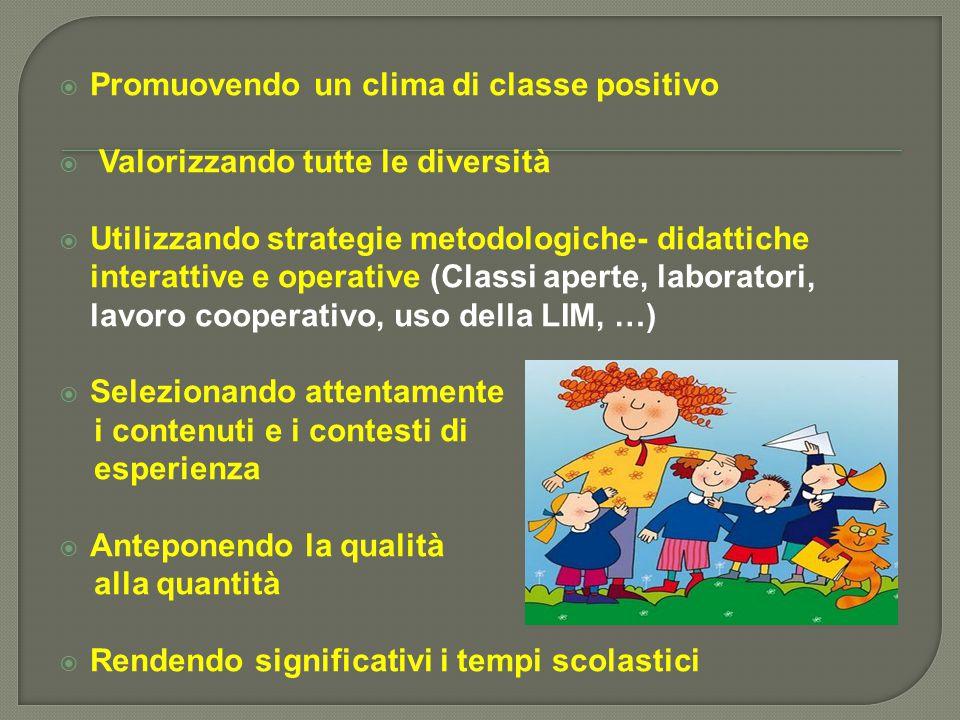 Promuovendo un clima di classe positivo