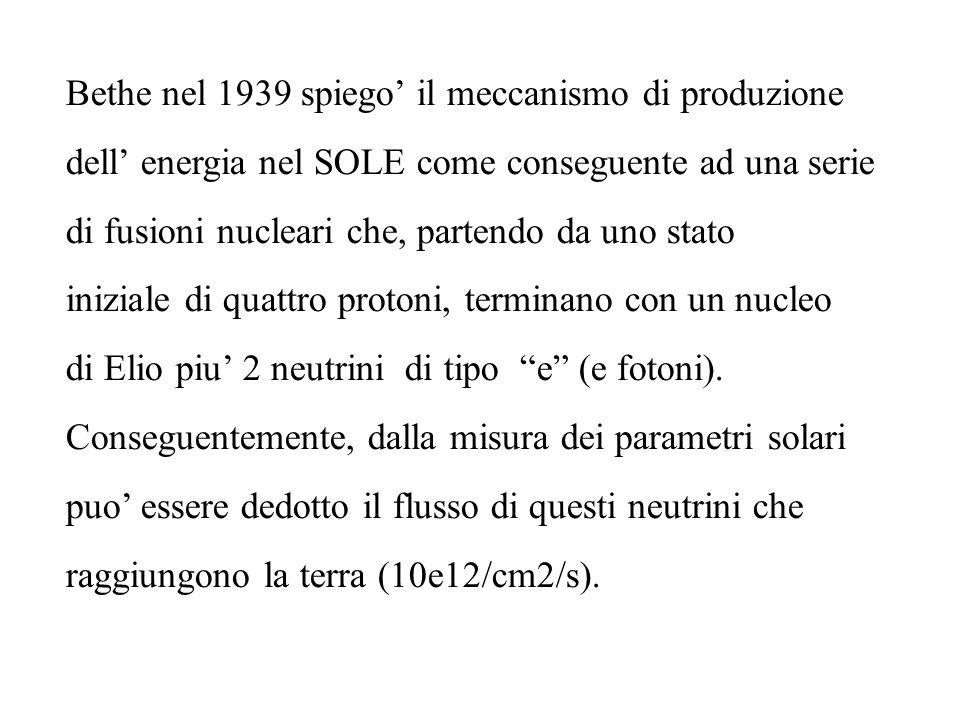 Bethe nel 1939 spiego' il meccanismo di produzione