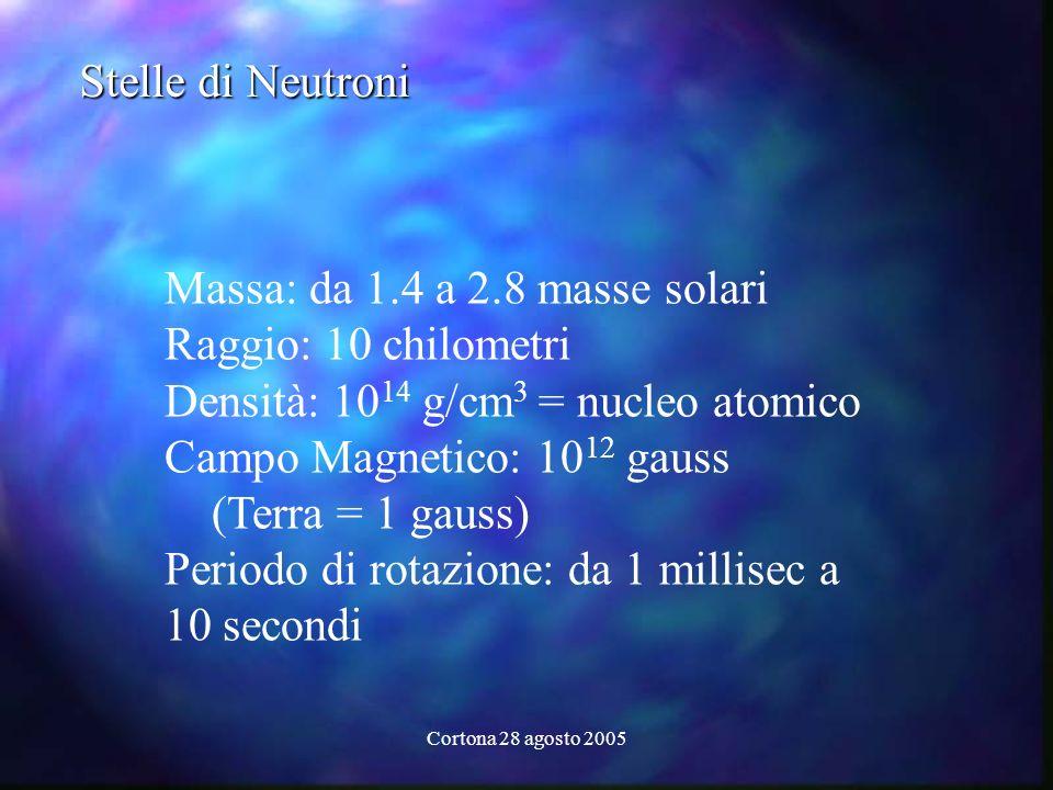 Massa: da 1.4 a 2.8 masse solari Raggio: 10 chilometri