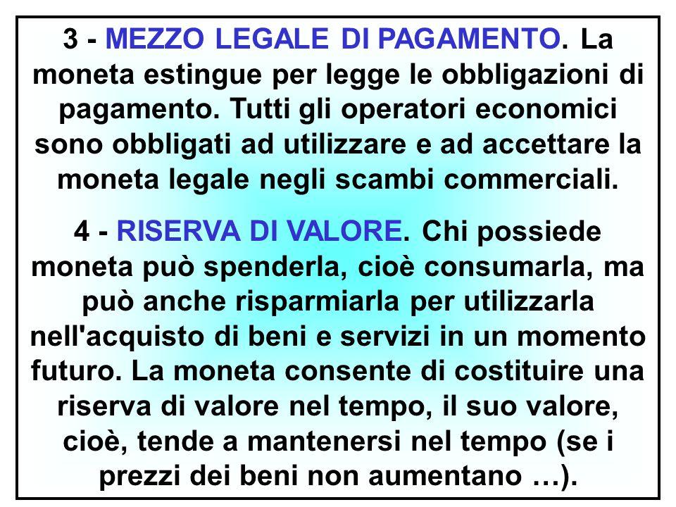 3 - MEZZO LEGALE DI PAGAMENTO