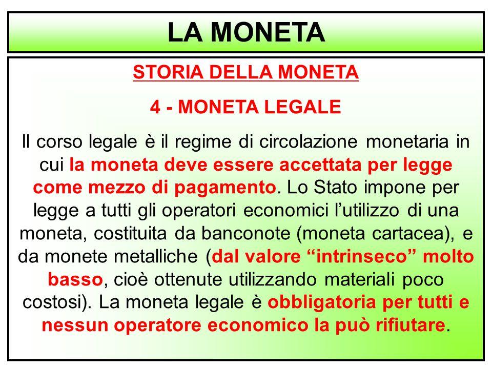 LA MONETA STORIA DELLA MONETA 4 - MONETA LEGALE