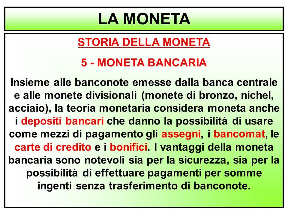 LA MONETA STORIA DELLA MONETA 5 - MONETA BANCARIA