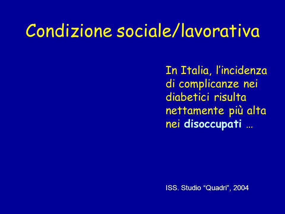 Condizione sociale/lavorativa