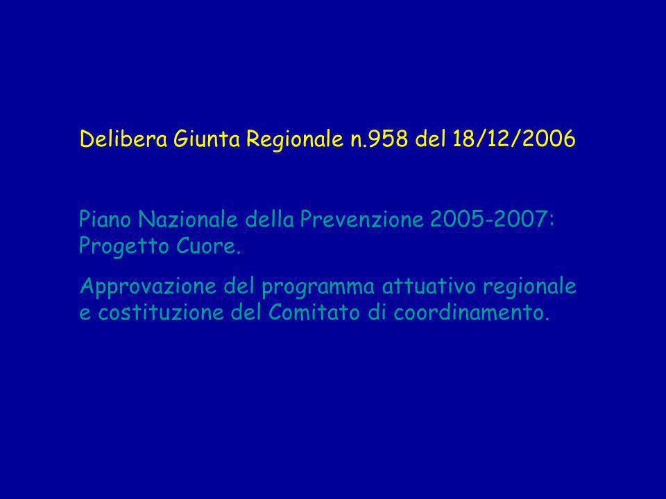 Delibera Giunta Regionale n.958 del 18/12/2006