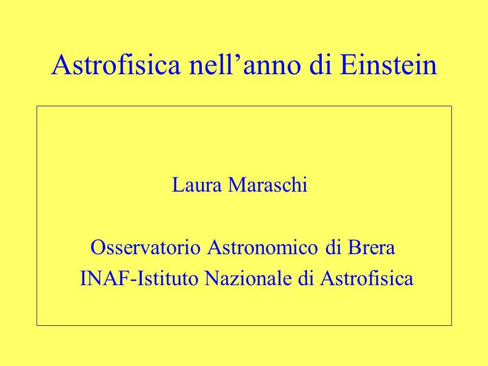 Astrofisica nell'anno di Einstein
