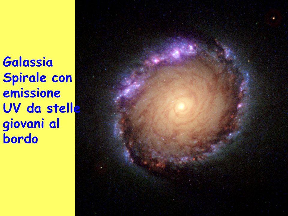 Galassia Spirale con emissione UV da stelle giovani al bordo