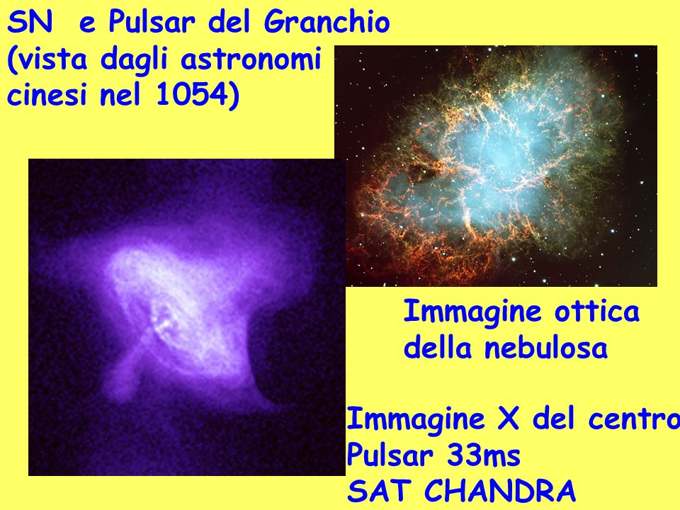 SN e Pulsar del Granchio