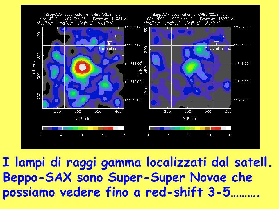 I lampi di raggi gamma localizzati dal satell.