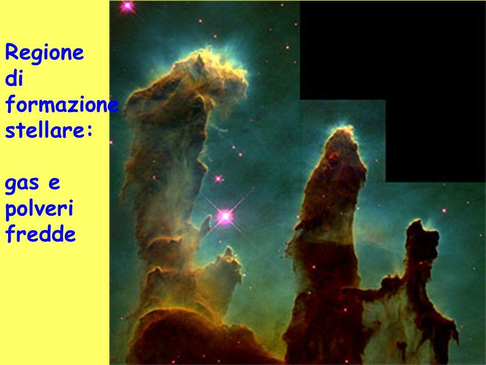 Regione di formazione stellare: gas e polveri fredde