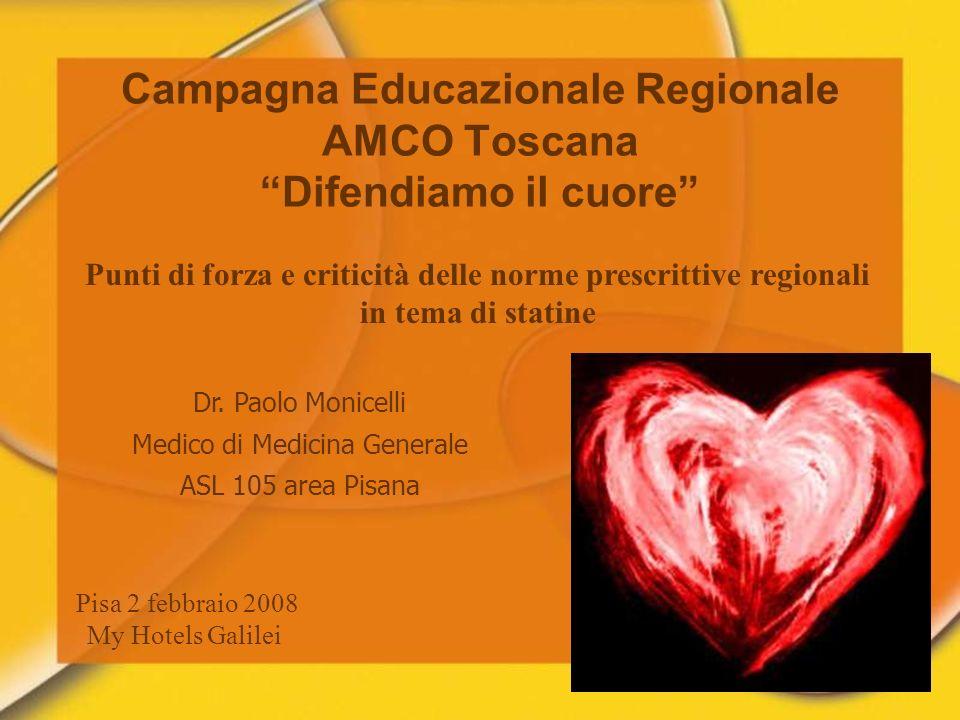 Campagna Educazionale Regionale AMCO Toscana Difendiamo il cuore