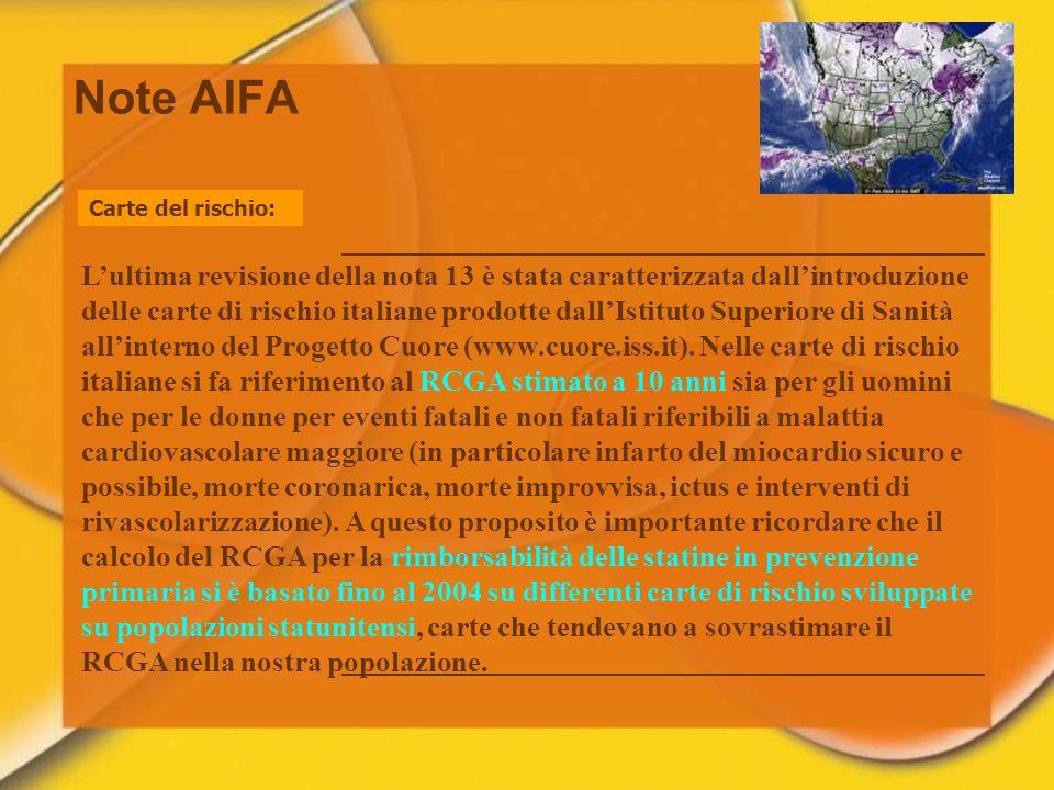 27/03/2017Note AIFA. Carte del rischio: