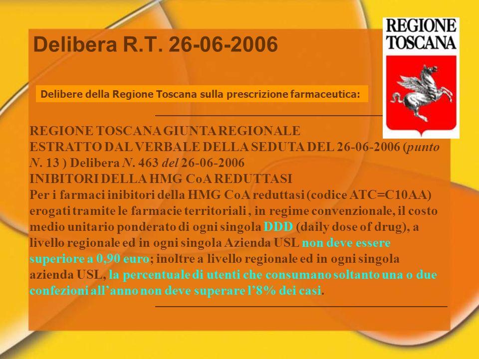 Delibera R.T. 26-06-2006 REGIONE TOSCANA GIUNTA REGIONALE