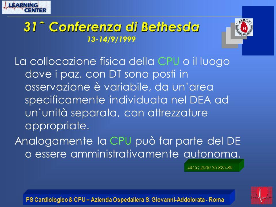 31ˆ Conferenza di Bethesda 13-14/9/1999