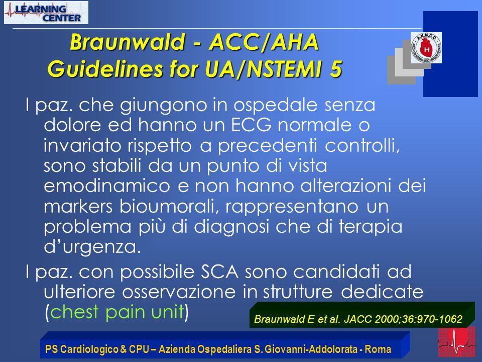 Braunwald - ACC/AHA Guidelines for UA/NSTEMI 5