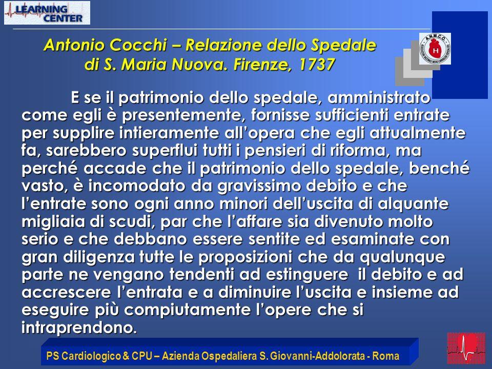 Antonio Cocchi – Relazione dello Spedale di S. Maria Nuova