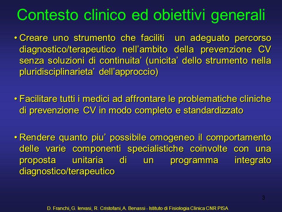 Contesto clinico ed obiettivi generali