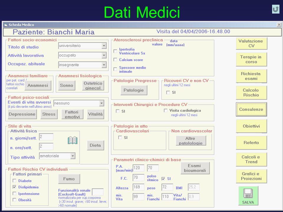 Dati Medici D. Franchi, G. Iervasi, R. Cristofani, A.