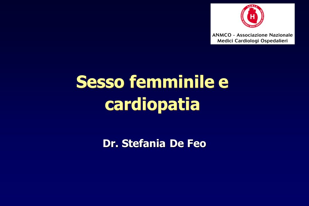 Sesso femminile e cardiopatia