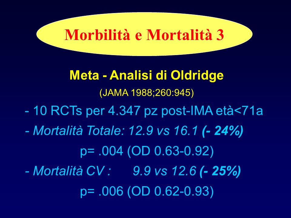 Meta - Analisi di Oldridge