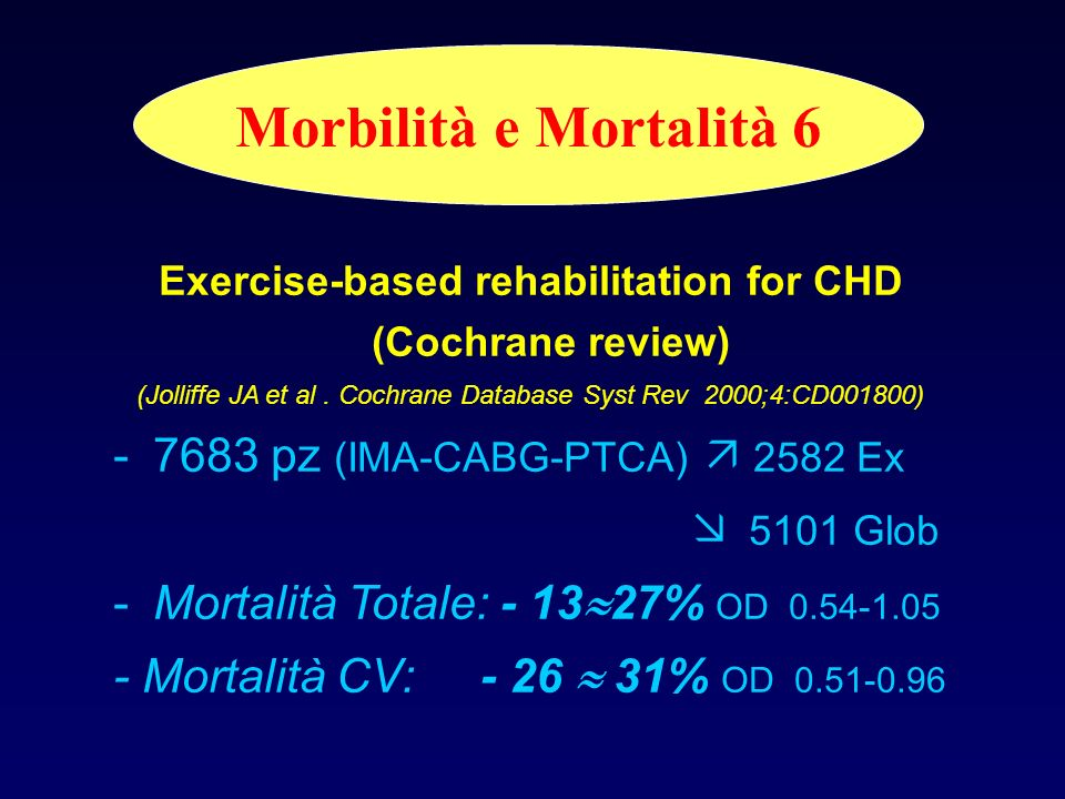 Exercise-based rehabilitation for CHD (Cochrane review)