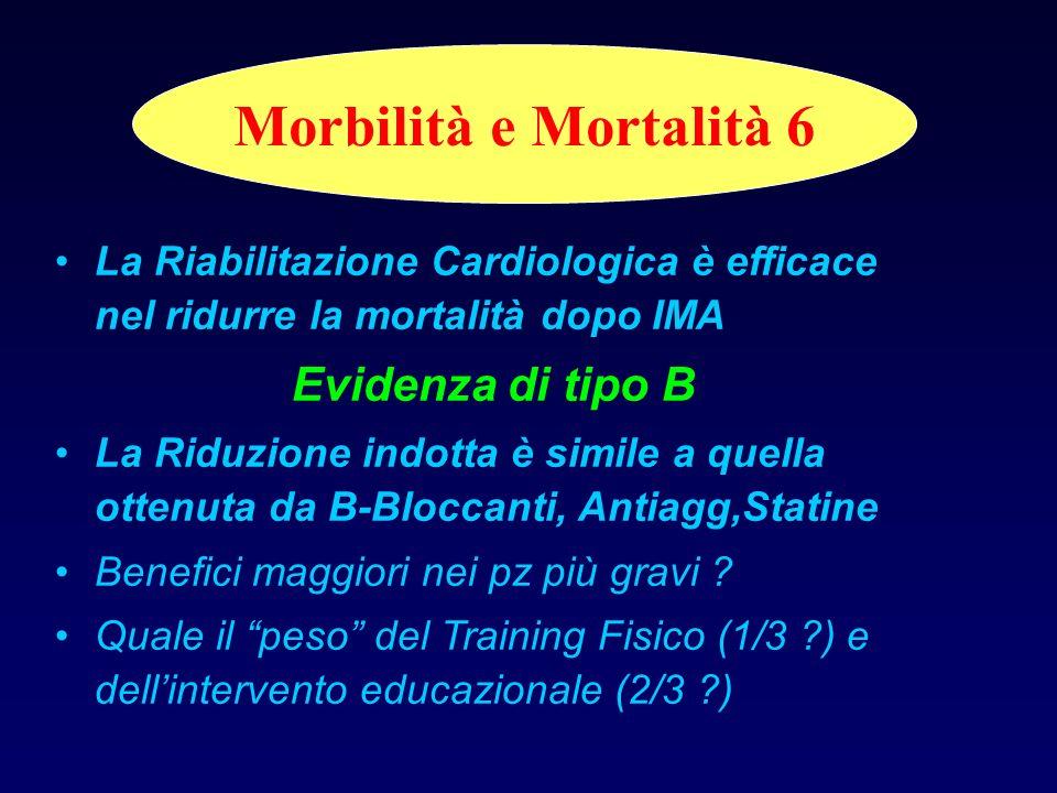 Morbilità e Mortalità 6 Evidenza di tipo B