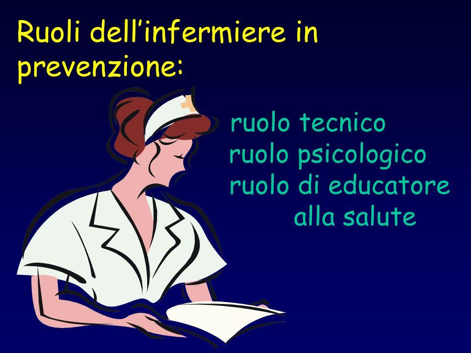 ruolo tecnico ruolo psicologico ruolo di educatore alla salute