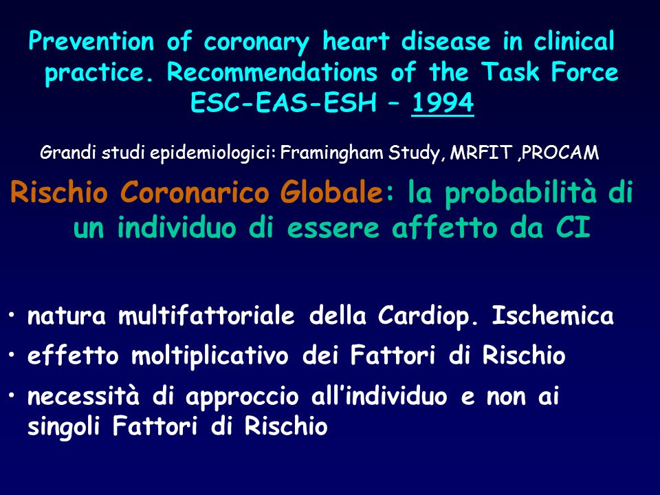 Prevention of coronary heart disease in clinical practice