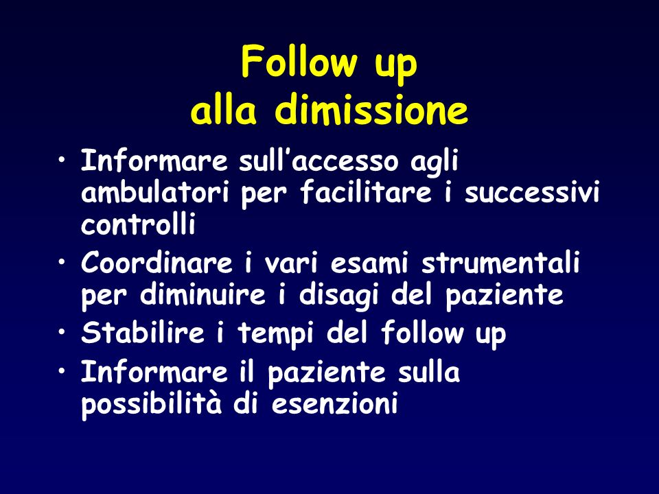 Follow up alla dimissione