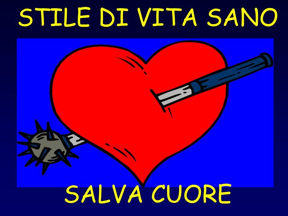 STILE DI VITA SANO SALVA CUORE