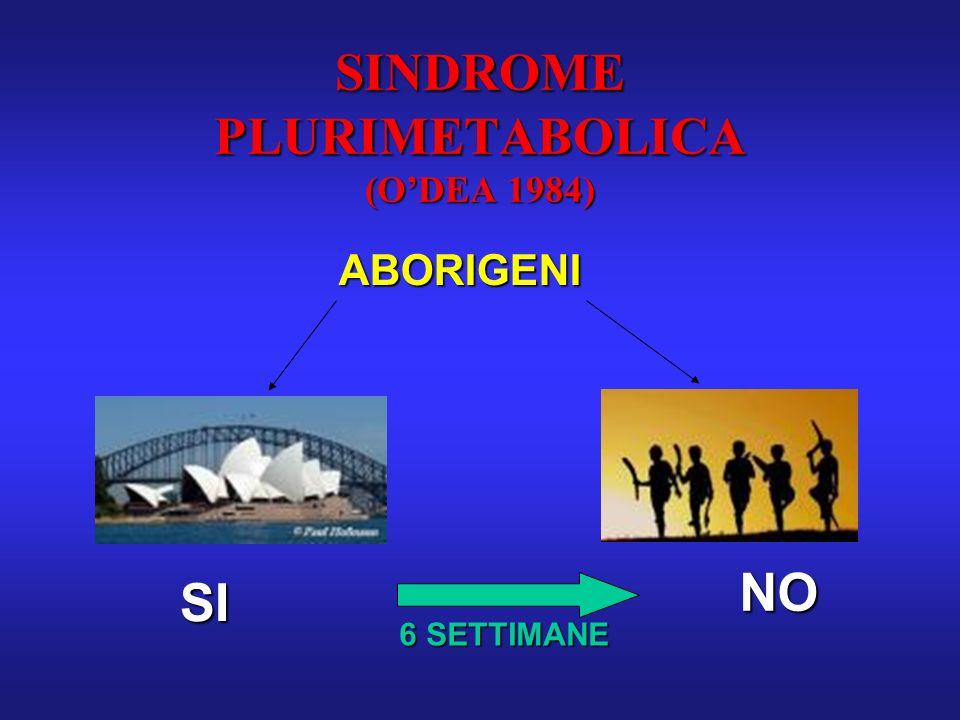 SINDROME PLURIMETABOLICA (O'DEA 1984)
