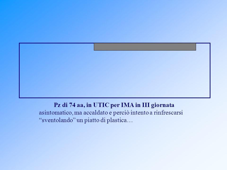 Pz di 74 aa, in UTIC per IMA in III giornata