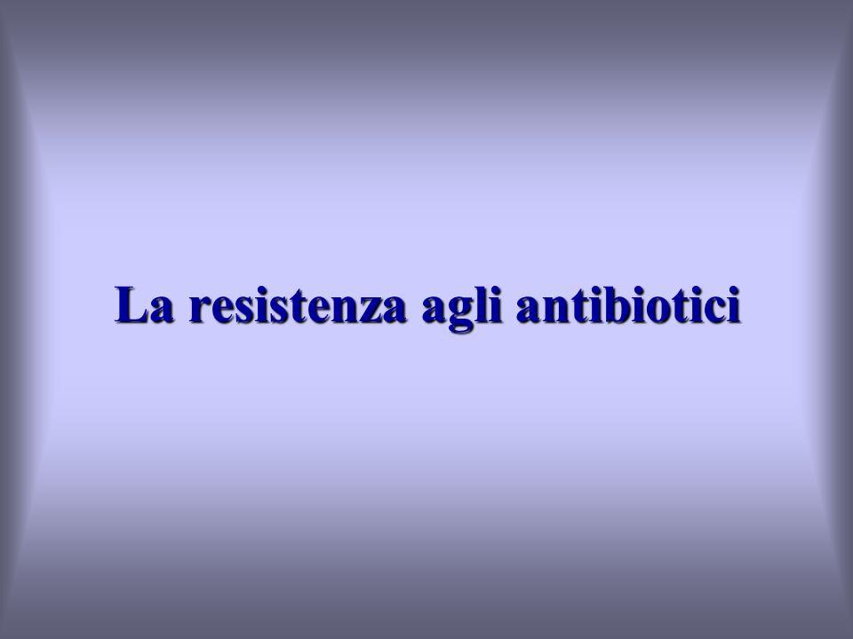 La resistenza agli antibiotici