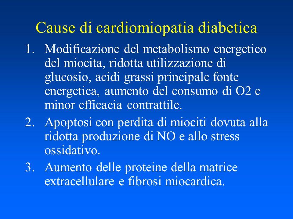 Cause di cardiomiopatia diabetica