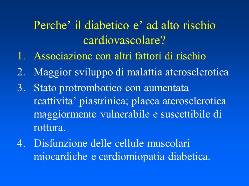 Perche' il diabetico e' ad alto rischio cardiovascolare