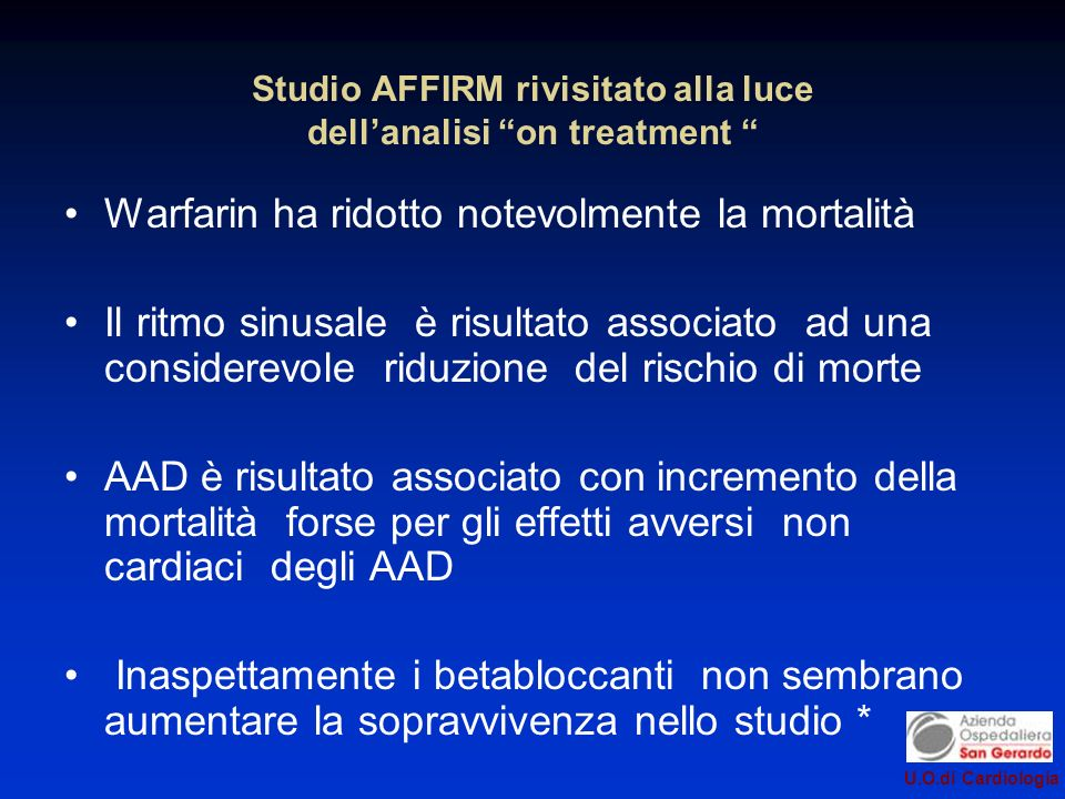 Studio AFFIRM rivisitato alla luce dell'analisi on treatment