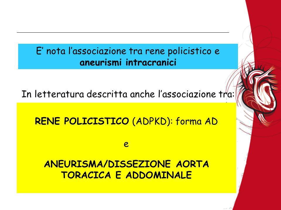 ANEURISMA/DISSEZIONE AORTA TORACICA E ADDOMINALE