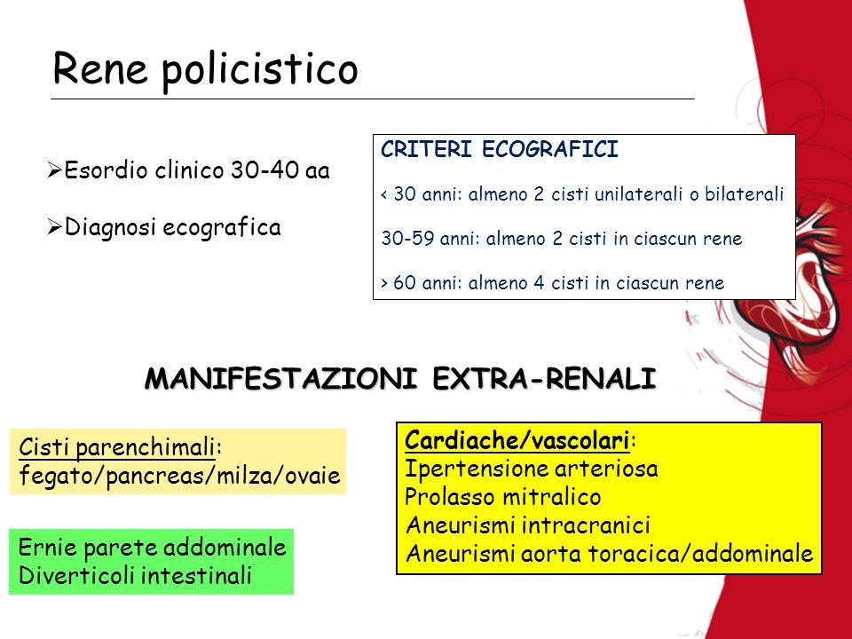 MANIFESTAZIONI EXTRA-RENALI