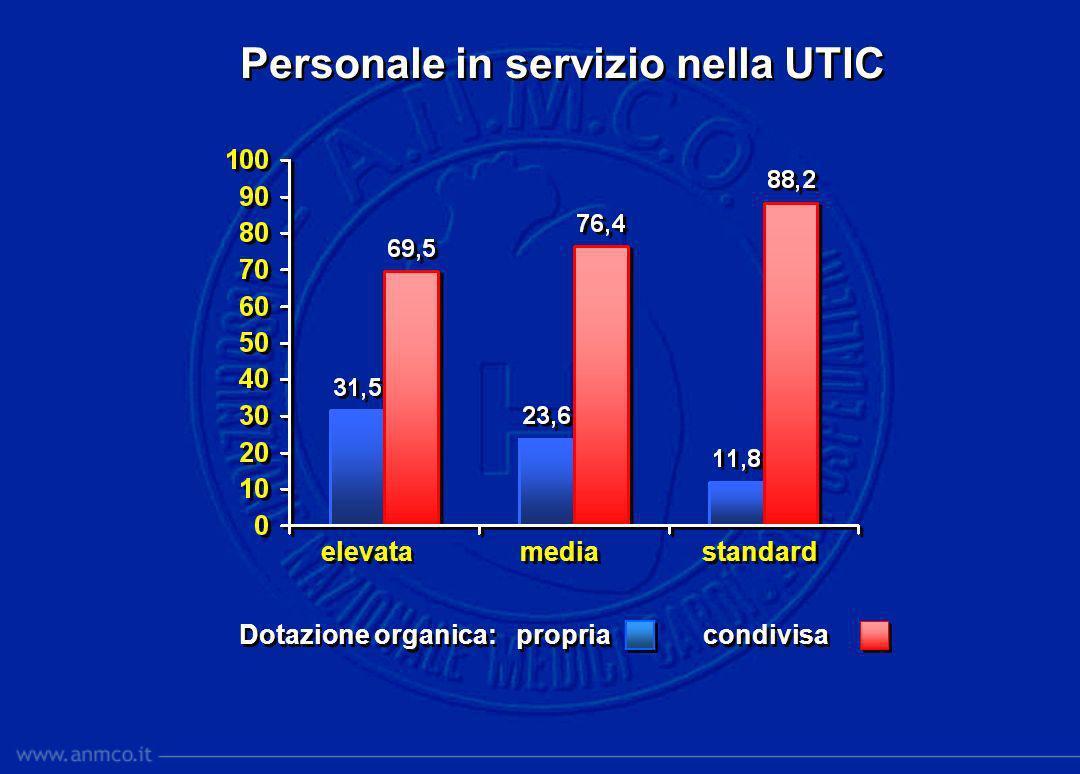 Personale in servizio nella UTIC