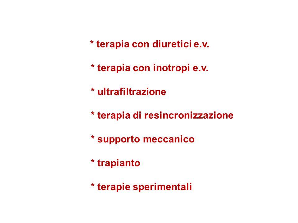 * terapia con inotropi e.v. * ultrafiltrazione
