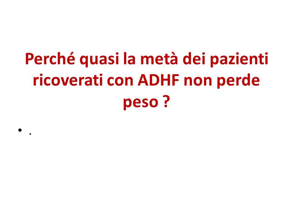 Perché quasi la metà dei pazienti ricoverati con ADHF non perde peso