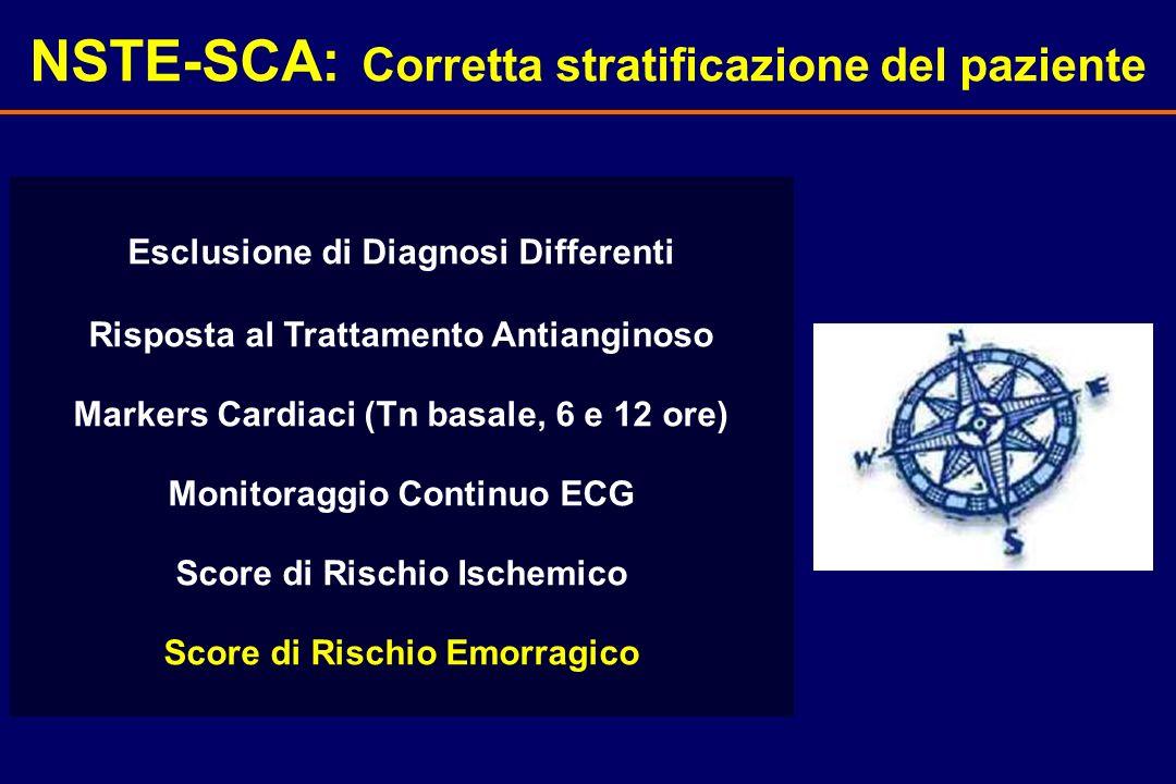 NSTE-SCA: Corretta stratificazione del paziente