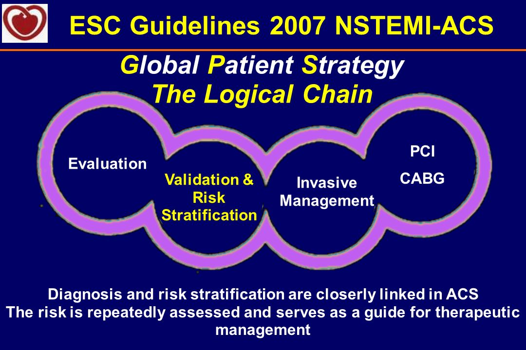 ESC Guidelines 2007 NSTEMI-ACS Global Patient Strategy