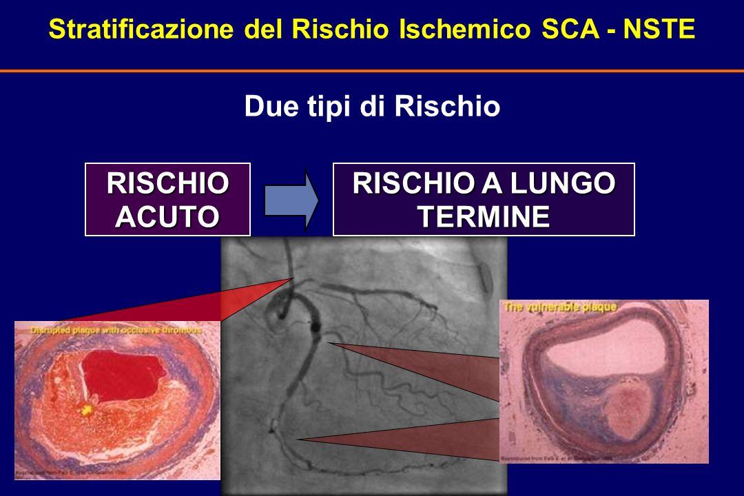 Due tipi di Rischio RISCHIO ACUTO RISCHIO A LUNGO TERMINE